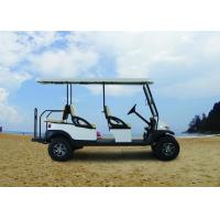 Electric Transportation 6 Seater Golf Cart Orange Color For Sightseeing