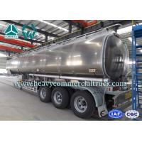 Quality Safety Tri Axle Aluminum Alloy Fuel Tank Semi Trailer 30m3 - 45m3 wholesale