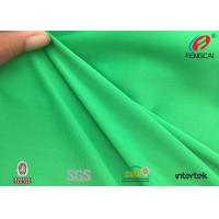 Quality Green Jacquard Knitted Polyester Spandex Fabric Sportswear Material UV Resistant wholesale