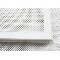 Quality 600 x 600 Acoustic Ceiling Tiles Aluminum Perforated Metal Ceiling for Open Area wholesale