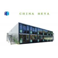 Ready Made Double Storey Prefab Houses Flat Pack Prefab Container Homes Hotel Building