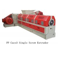 Quality PP Caco3 Single Screw Extruder Making Machine Water Ring Pelletizing System wholesale