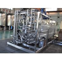 Quality Milk Heating Dairy Processing Equipment 137-142℃ UHT Tubular Pasteurizer 8TPH wholesale
