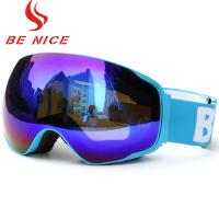 CE FDA Approved Photochromic Snow Goggles , Women'S Otg Ski Goggles For Night Time