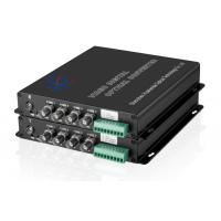 video to fiber converter 4-Ch Video & 1-Ch data RS485/232/422