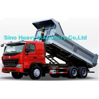 Quality 336HP HOWO Heavy Duty Dump Truck, red, white and blue colors, ZZ3257M3247N, 6x4 wholesale