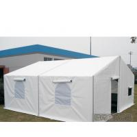 Buy cheap 6M Width Waterproof White Military Tent with Screen Windows and PVC Cover from wholesalers