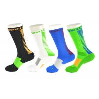 Quality Spandex / Elastane Green Athletic Basketball Socks With Anti - Bacterial / Anti - Slip Materials wholesale