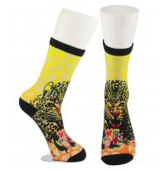 Cheap Yellow Anti Slip Custom Printed Socks , Eco - Friendly Soft Cute Printed Socks for sale