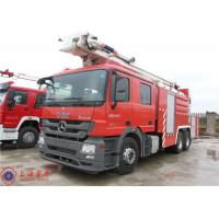 Quality High Spraying Water Fire Truck Benz Chassis With Fully Synchronized Gearbox wholesale