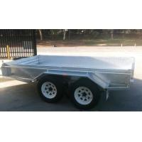 Quality Rolled C / Plate floor 8x5 Hot Dipped Galvanized Tandem Trailer 3200KG wholesale