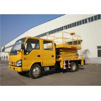 Buy cheap ISUZU Chassis 4x2 Drive 22M Telescopic Boom Truck Mounted Aerial Platforms 90km/H from wholesalers