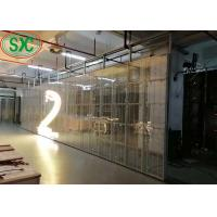 Buy cheap 500mmx1000mm cabinet  high transparency G7.8125-7.8125 indoor usage full color transparent led screen from wholesalers