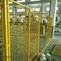Quality Yellow Color Welded Workshop Metal Fence / Warehouse Isolation Fence wholesale