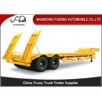 Quality Double axles low bed truck semi-trailer low flatbed trailer spring suspension wholesale