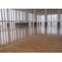 Flat Solid Sports Wooden Flooring , Natural Maple Basketball Court Wood Flooring