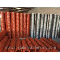 Buy cheap Carbon Steel Diamond Expanded Metal Mesh For Construction Red Color from wholesalers