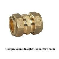 Buy cheap compression fitting straight 15mm for copper pipe from wholesalers