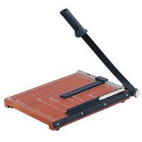Wooden Base Guillotine Manual Paper Cutter 12 Sheets Cutting Capacity NO.828