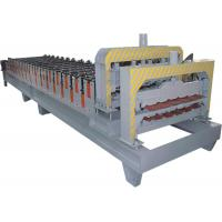 Buy cheap Double Press Step Roof Tile Roll Forming Machine Touch Screen , HRC 50 - 60 from wholesalers