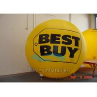 Eye - Catch Yellow Branded Helium Balloons 3M Diameter For Trade Show