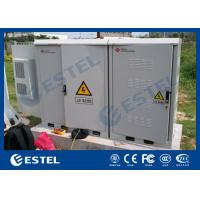 Galvanized Steel Sandwich Panel Integrated Outdoor Telecom Cabinet For Base Station With Air Conditioner, UPS