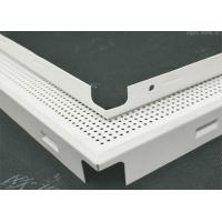Cheap sound proofing decorative Acoustic Ceiling Tiles Perforated Fireproof With roll coating for sale
