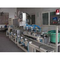 Quality Liquid Filling System Tin Filler with 3 Heads (Square Metallic Tin) Model MG-18F-3T wholesale