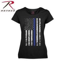 Quality Rothco Women's American Thin Blue Line Flag Longer T-Shirt wholesale