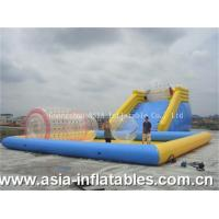 Quality Inflatable Zorbing Ramp Inflatable Zorb Ramp and Water Pool Combo wholesale