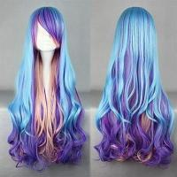Cosplay Lolita Wig Inspired by Blue and Purple and Pink Mixed Color Punk