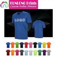 Quality Promotional V-neck Running T-shirts (KLPQD-003) wholesale