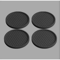 Quality Custom Soft Rubber Soft PVC Coaster Round wholesale