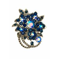 Hairclips Blue Crystal Bouquet Hairclip and Brooch