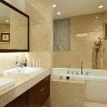 Cheap QZ601 Solid Surface Beige Bathroom Wall Panel Quartz Tiles for sale