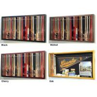 "Quality Mini 18"" Baseball Bat Display Case Cabinet w/ UV Protection4 WOOD COLORS! wholesale"