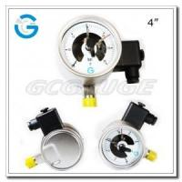 Quality Electric contact pressure gauges 4 inch dial with all stainless steel bottom connection wholesale