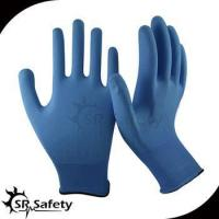 Quality 13 gauge knitted nylon liner coated water-based PU on palm gloves wholesale