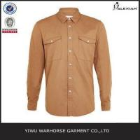 Quality Tan Long Sleeve Casual Shirt wholesale