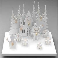 Quality main products fashion white Christmas theme design tree jewelry display stands wholesale