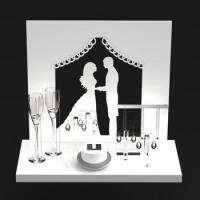 Quality main products high end elegant acrylic jewelry display stand sets wholesale