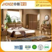 Quality 6A006 solid teak wood cheap bedroom furniture set wholesale