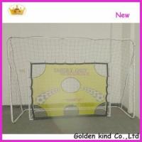 Quality Factory sale inflatable soccer goal post with shooting hole wholesale