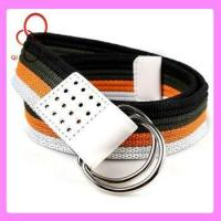 Quality double d ring custom web mexican belt wholesale